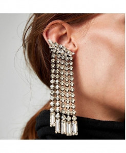 Silver Pair  Fashion Asymmetric Drop Dangle Earrings