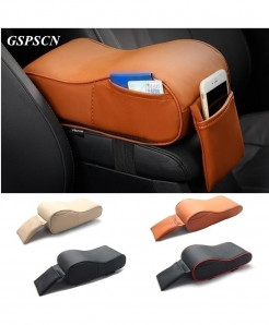 GSPSCN Mustard Car Armrest Box Mats Auto Armrests Covers Pad