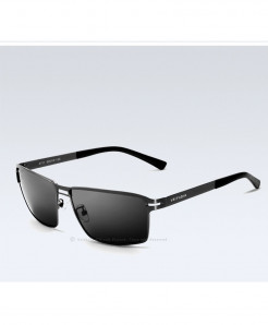 VEITHDIA Grey Shaded Stainless Steel Polarized Sunglasses