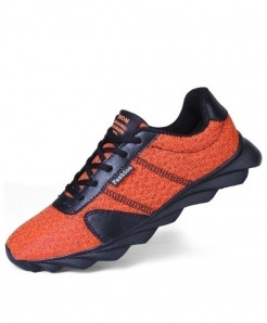 Orange Mesh Breathable Trainers Running Sport Shoes