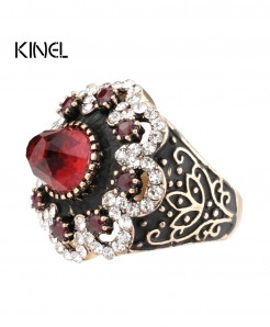 Turkish Luxury Big Natural Stone Ring Crystal Ring