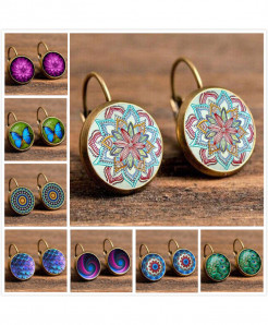 Pack of 2 Vintage Retro Earrings