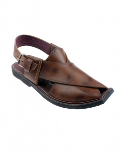 Brown Shaded Leather Peshawari Sandal HCL-013