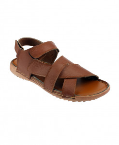 Brown Leather Sandal SPK-061