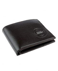 Choco Brown Balisi Emblem Leather Wallet SPK-064