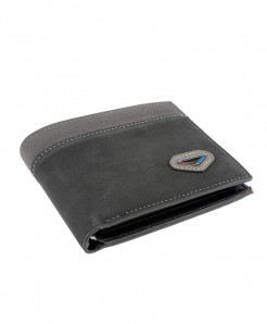 Grey Balisi Leather Wallet SPK-065