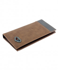 Light Brown Leather Card Holder Long Wallet SPK-067