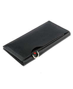 Black Leather Card Holder Long Wallet SPK-069