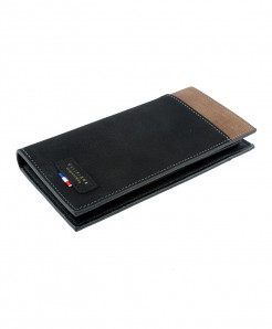Black Leather Card Holder Long Wallet SPK-071