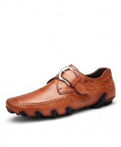 Times New Roman Mustard Brown Soft Leather Loafers
