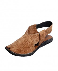 Brown Suede Leather Peshawari Sandal SPK-079