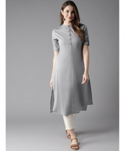 Silver Pleated Shoulder Style Ladies Kurti ALK-127