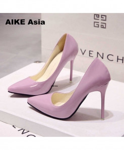 Pink High Heels Pumps Thin Heel Classic Pump Shoes