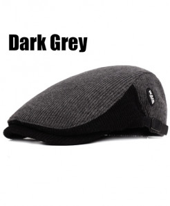 Dark Gray Cotton Sports Berets Caps