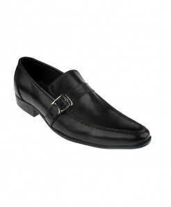 Black Slip on Leather Formal Shoes LC-311