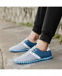 GNOME Light Gray Mesh Leisure Breathable Sneakers