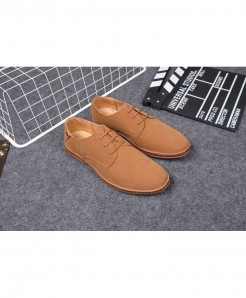 Reetene Camel Brown Flock Comfortable Casual Shoes