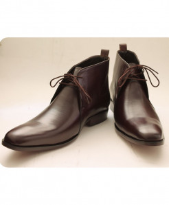 Corio Brown Ankle High Toe Design Shoe CSO-C101153
