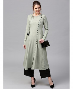 Seige Cross Neck Button Style Ladies Kurti ALK-143