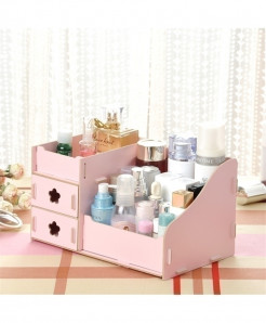 Pink Multi-Function Table Sundries Container Storage Box