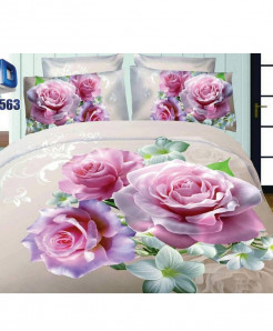 Roses Lily Satin Cotton 3D Bedsheet SD-0563