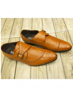 Camel Brown Buckle Style Formal Shoes LW-7109
