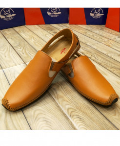 Camel Brown Stylish Slip On Loafers LW-7117