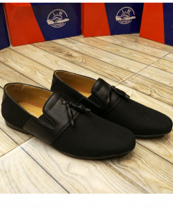 Black Bow Knotted Style Loafers LW-7128