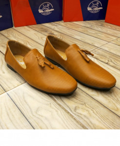 Camel Brown Bow Knotted Stylish Loafers LW-7131