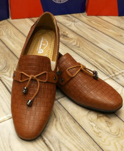 Brown Lace Style Loafers LW-7133