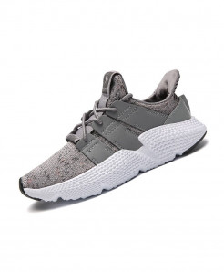 BomKinta Gray Fly Weaving Casual Damping Breathable Shoes