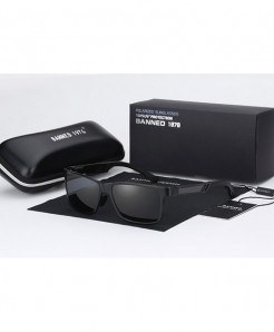 BANNED 1976 Black Aluminum Magnesium HD Polarized Mirror Metal Sunglasses