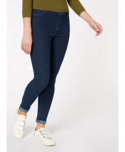 Plus Size Dark Blue Denim Jeggings For Women PSW-96