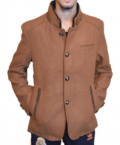Mustard Brown Stylish Wool Blazer For Men SPK-131
