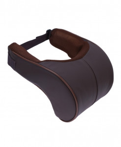 Coffee Brown Memory Cotton Car Neck Rest Pillow Cushion