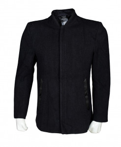 Black Zipper Stylish Blazer Wool SPK-129