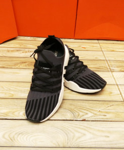 Black Gray Stripped Style Casual Shoes LW-7153