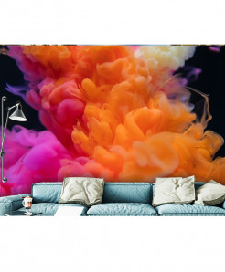 3D Modern Artistic Color Smoke Wallspiration BNS-145