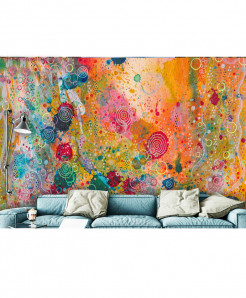 3D Modern Artistic Color Pattern Wallspiration BNS-146
