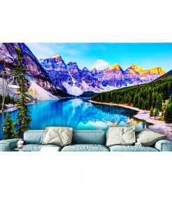 3D Modern Moraine Lake Wallspiration BNS-158