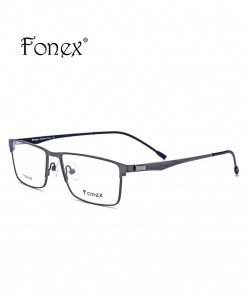Fonex Gray Titanium Ultralight Square Screwless Optical Frame
