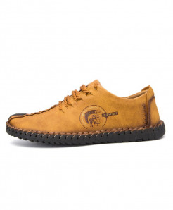 Yellow Lace-up Leisure Shoes