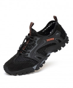 Black Hiking Shoes Breathable Hunting Anti-Skid Sport Shoes