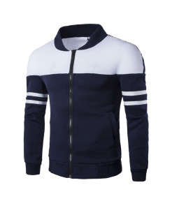 FeiTong Navy Blue Zipper Sportswear Jacket