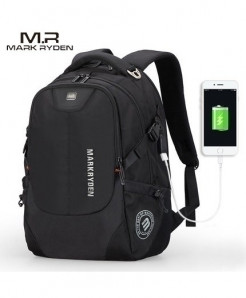 Mark Ryden Black Multifunction USB Charging 15inch Laptop Backpack