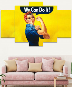 We Can Do It Canvas Wall Frame SA-18
