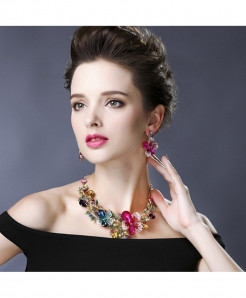 Ztech Colorful Trendy Fashion Jewelry Set