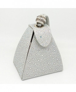 De FGG Silver Diamonds Mini Wristlet Clutch