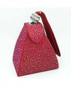 De FGG Dual Tone Beads Mini Wristlet Clutch