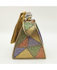 De FGG Multicolor Beads Mini Wristlet Clutch